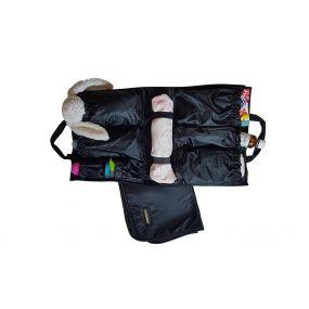 Black Baby Bag Organiser with Change Mat