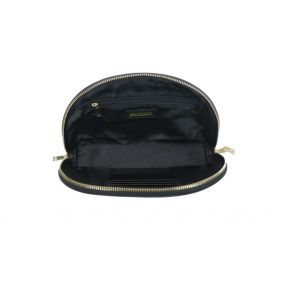 Black Half Moon Clutch