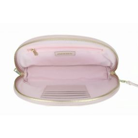 Piggy Pink Half Moon Clutch