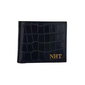 Black Croc Embossed Wallet