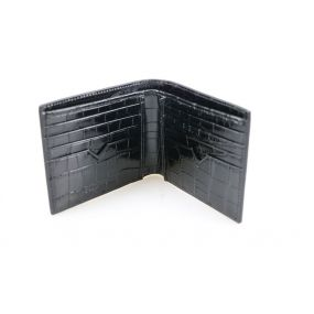 Black Croc Embossed Wallet